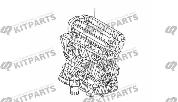 Двигатель в сборе DongFeng AX7