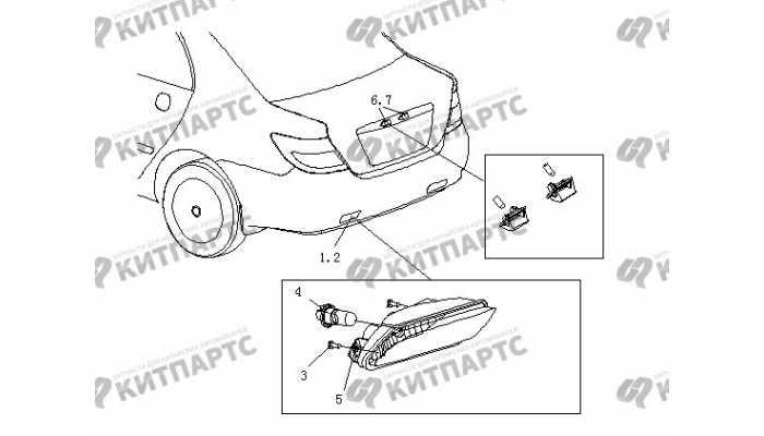 Фонари противотуманные задние BYD F3 (F3R)