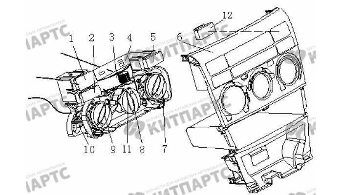 Панель управления кондиционером BYD F3 (F3R)