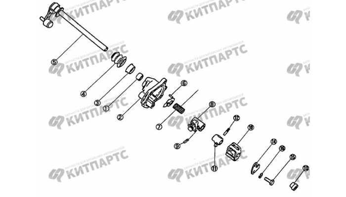 Механизм переключения передач. Часть 2. BYD F3 (F3R)