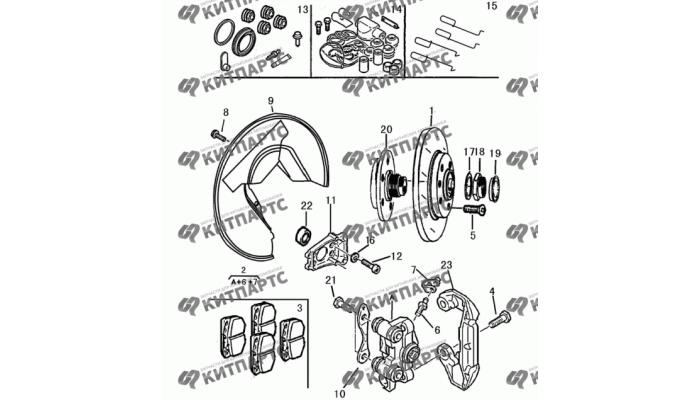 Тормозной механизм задний VIN<224500 Dong Feng S30