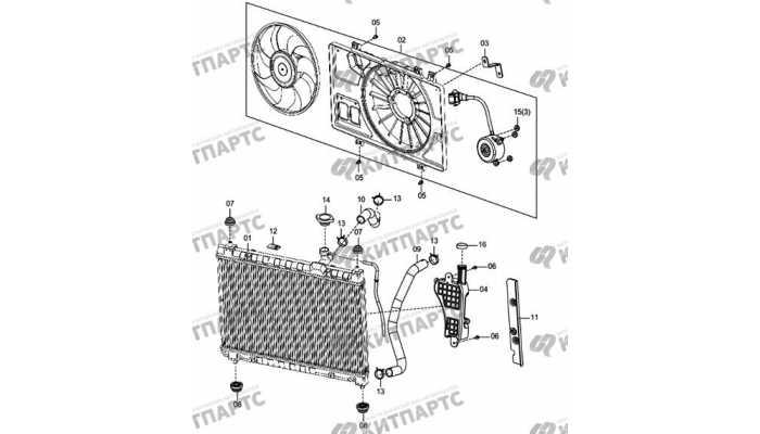 Вентилятор охлаждения двигателя FAW Oley