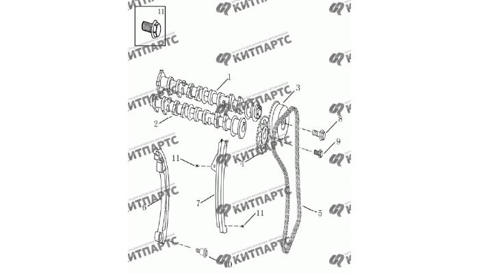ГРМ (1,8 l) Geely Emgrand (EC7)
