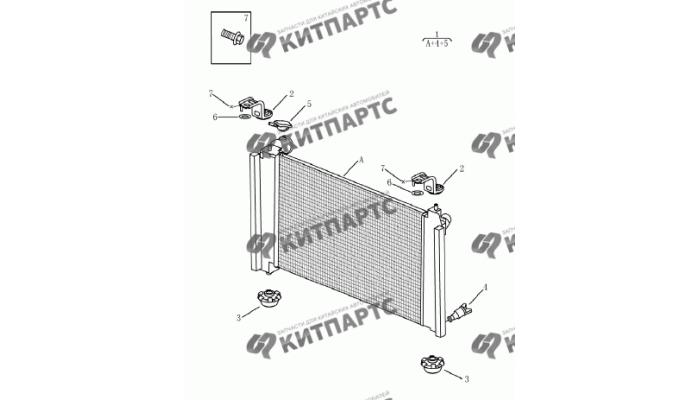 Радиатор охлаждения двигателя Geely Emgrand (EC7)