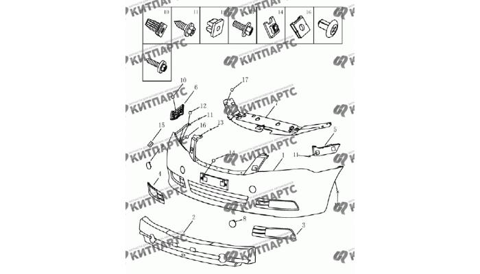 Бампер передний (седан) Geely Emgrand (EC7)