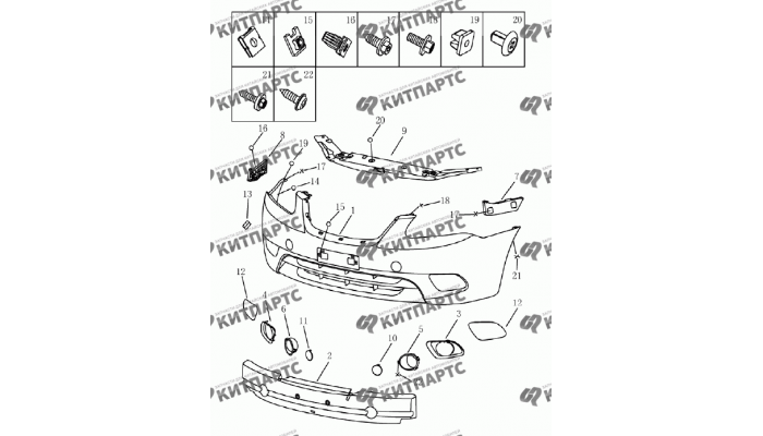 Бампер передний (хетчбэк) Geely Emgrand (EC7)