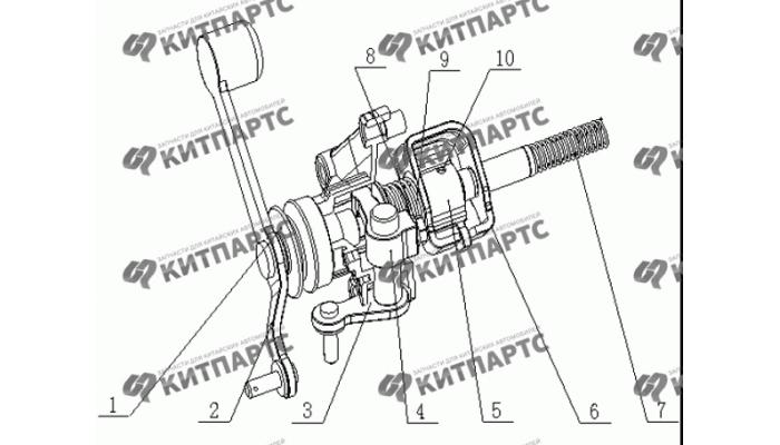 Механизм переключения передач Geely MK
