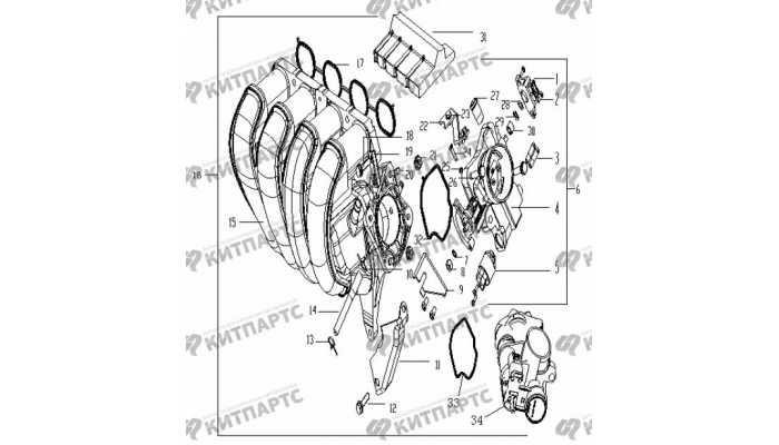 Коллектор впускной Geely Vision (FC)